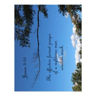 James 5:16 The effectual fervent prayer of Letterhead Template