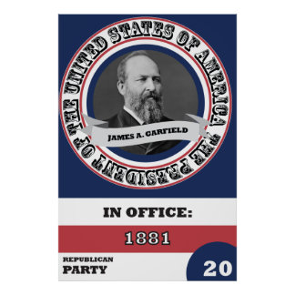 James A. Garfield Presidential History Poster