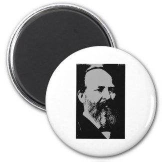 James A. Garfield silhouette 2 Inch Round Magnet