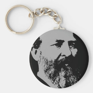 James A. Garfield silhouette Keychain
