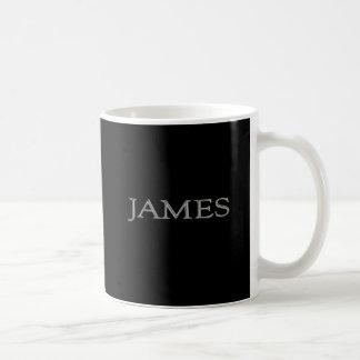James a personnalisé le nom tasses à café