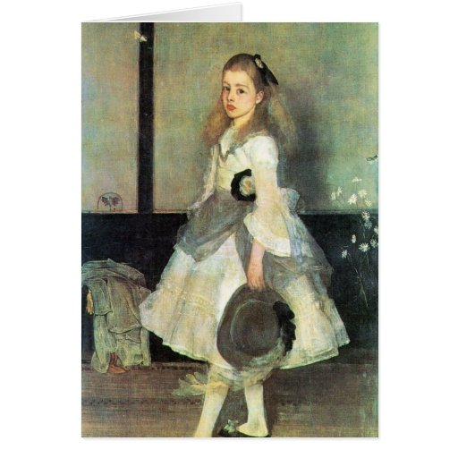 James Abbot McNeill Whistler - Portrait of Miss Al Greeting Card