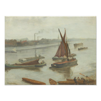 James Abbott McNeill Whistler - Grey and Silver Photo Art