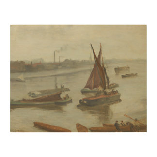 James Abbott McNeill Whistler - Grey and Silver Wood Canvas