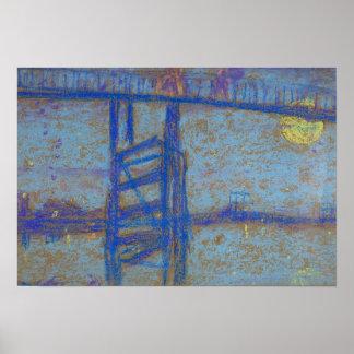 James Abbott McNeill Whistler -Nocturne-Battersea Poster