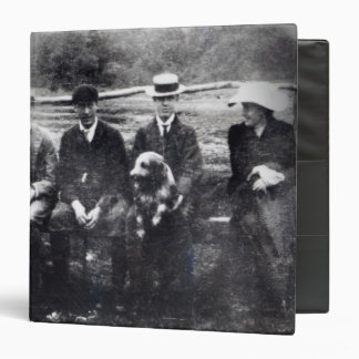 James and Lytton Strachey with Thoby, Adrian 3 Ring Binder