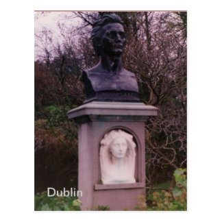 James Clarence Mangan Monument, Dublin, Ireland Postcard