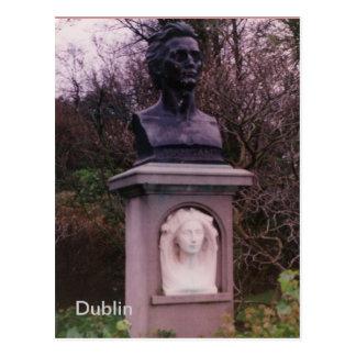 James Clarence Mangan Monument, Dublin, Ireland Postcard