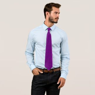 James Dean Purple Circle Pattern Tie