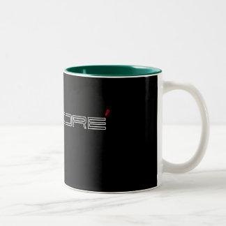 James Dore' Red & Black Lettered Porsche Style Mug