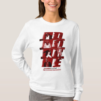 James Dore' RED Woman's Long Sleeve Hoodie White