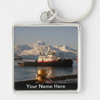 James Dunlap Tugboat in Dutch Harbor, AK Keychain
