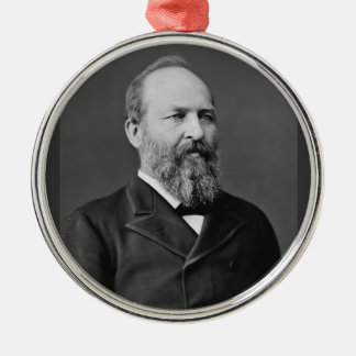 James Garfield 20th President Silver-Colored Round Ornament