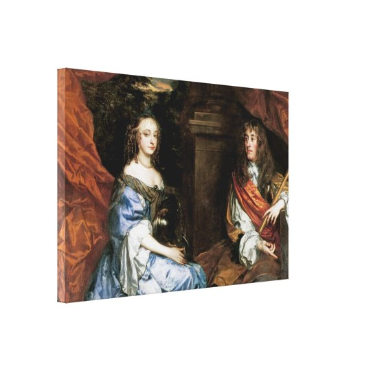James II and Anne Hyde by Sir Peter Lely Canvas Print