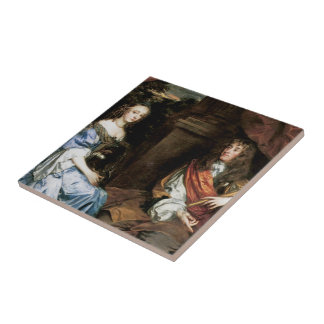 James II and Anne Hyde by Sir Peter Lely Tile