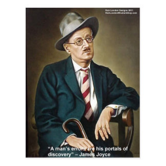 """James Joyce """"Errors/Portals"""" Quote Gifts & Cards"""