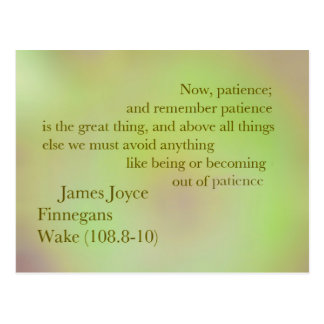James Joyce Finnegans Wake Quote Postcard