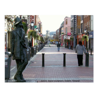 James Joyce Irish author sculpture, Dublin Ireland Postcard