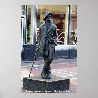 James Joyce Statue, Dublin Ireland Poster