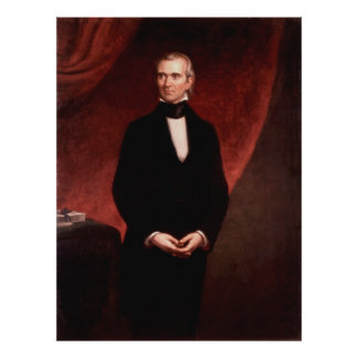 JAMES KNOX POLK by George Peter Alexander Healy Poster
