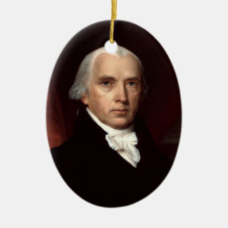 James Madison Ceramic Ornament