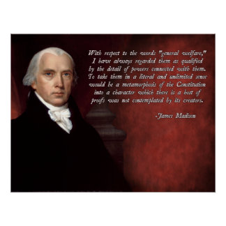 James Madison Constitution Poster