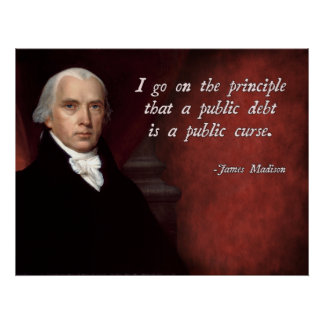 James Madison Debt Quote Poster