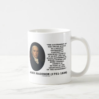 James Madison Govt Of United States Specified Govt Coffee Mug