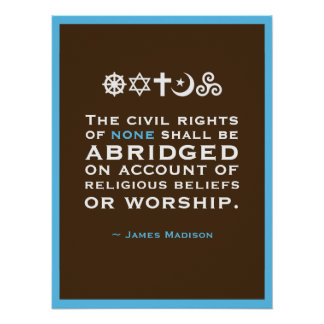 James Madison Quote Poster