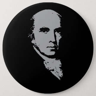 james madison silhouette 6 inch round button