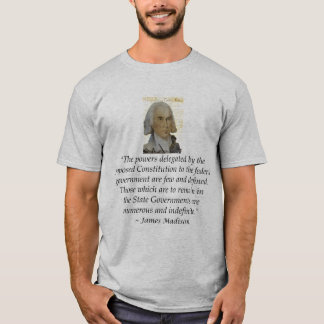 James Madison States Rights Bill of Rights Bckgrnd T-Shirt