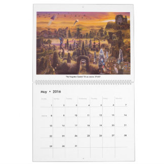 James McCarthy-Surrealism and the Landscape 2016 Wall Calendar