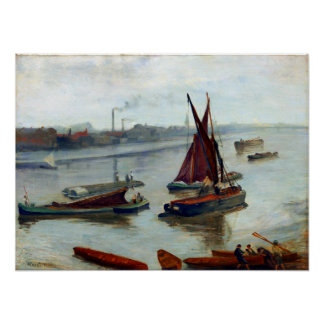 James McNeil Whistler Grey Silver Old Battersea Poster