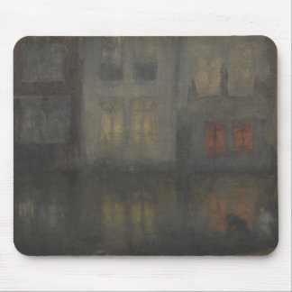 James McNeill Whistler - Nocturne - Black and Red Mouse Pad
