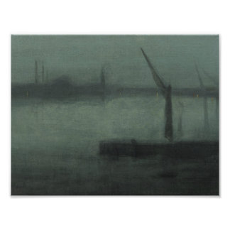 James McNeill Whistler - Nocturne- Blue and Silver Photo Print