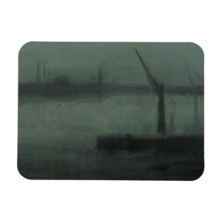 James McNeill Whistler - Nocturne- Blue and Silver Rectangular Photo Magnet