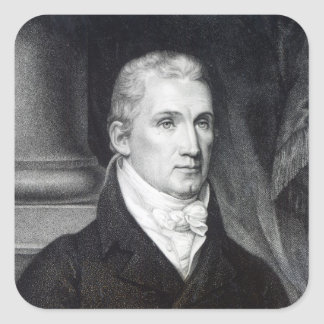 James Monroe, engraved by Thomas Gimbrede Square Sticker