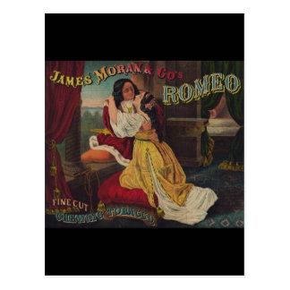 James Moran Co s Romeo Chewing Tobacco Postcard