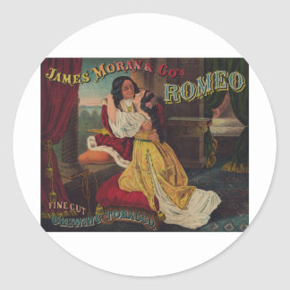 James Moran Co s Romeo Chewing Tobacco Round Stickers