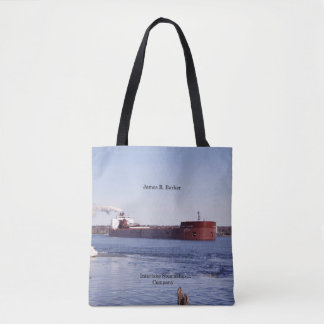 James R. Barker all over tote bag