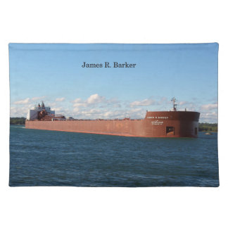 James R. Barker cloth placemat