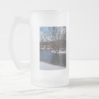 James River Cuts Back Frosted Glass Beer Mug