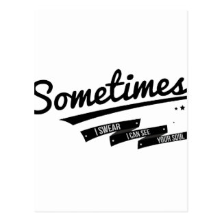 James - Sometimes Lyrics Retro Inspired Postcard