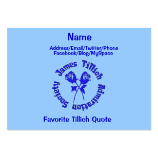 James Tillich Admiration Society Large Business Card