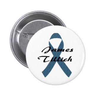James Tillich Ribbon Pinback Buttons