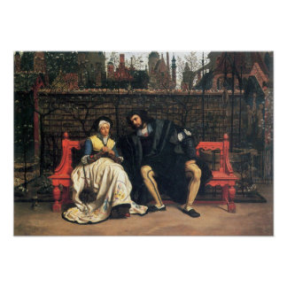 James Tissot - Faust and Marguerite in the garden Poster