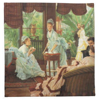 James Tissot Victorian Tea Party Napkins