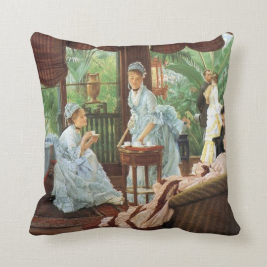 James Tissot Victorian Tea Party Throw Pillow