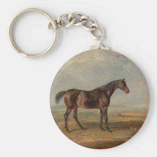 James Ward - Dr. Syntax, a Bay Racehorse Keychain