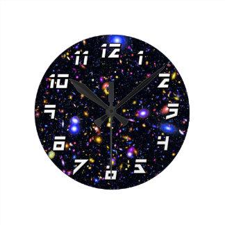 James Webb Space Telescope Simulation - Pop Art Round Clock